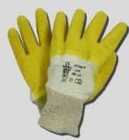 Latex Handschuhe, gelb, Strickbund