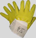 Latex Handschuhe, gelb, Stulpe